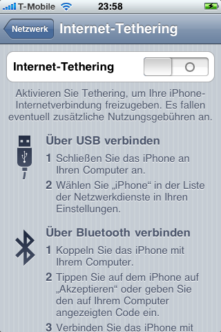 iPhone-Tethering